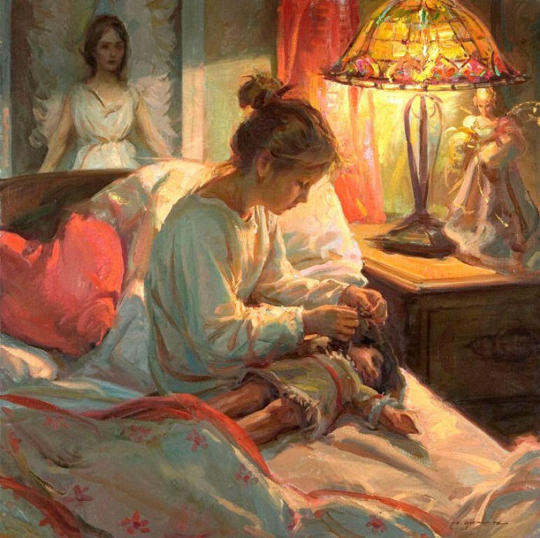Женские образы в творчестве современного американского художника Daniel F. Gerhartz