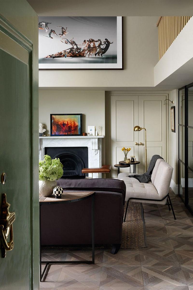 Компактная, но очень стильная и изысканная квартира в Лондоне