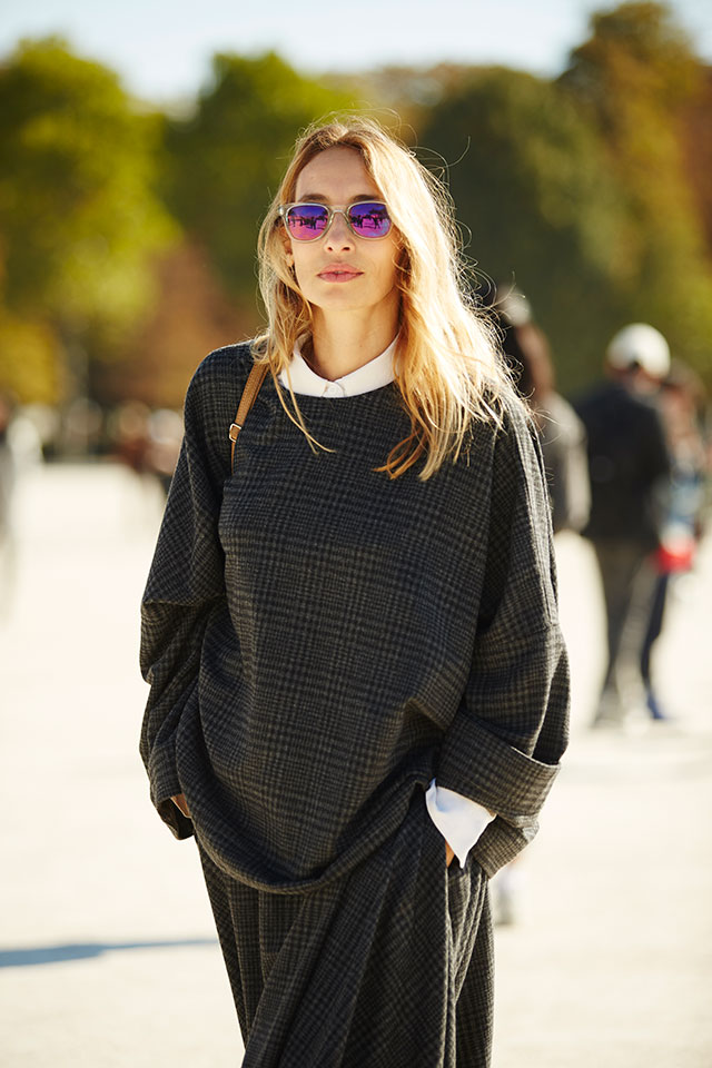 Неделя моды в Париже, весна-лето 2016: street style. Часть 1 (фото 31)