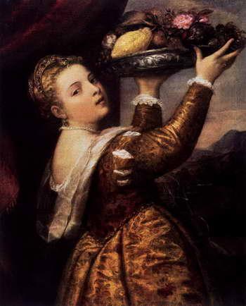 Тициан. Девушка с блюдом фруктов
