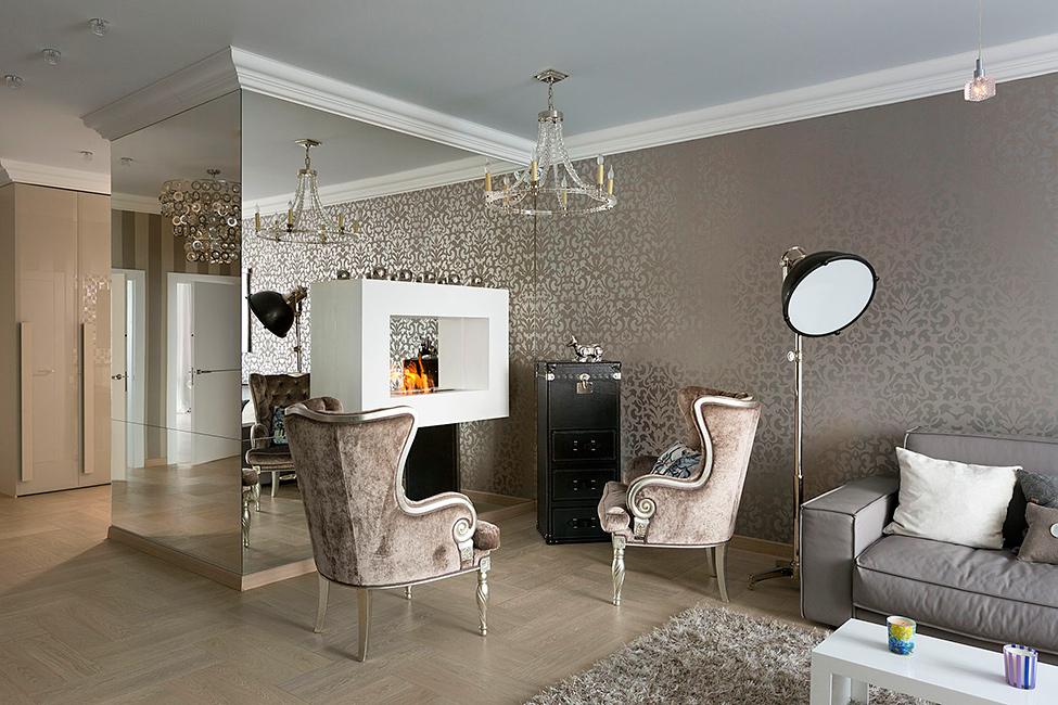 Дизайн шоурума интерьера квартиры