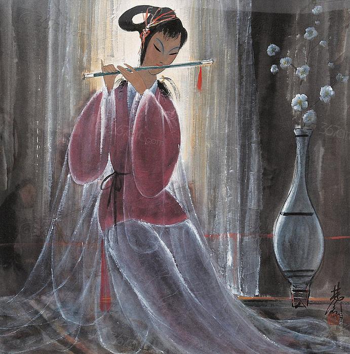 «Женщина, похожая на птицу…» Китайский художник Lin Fёngmian (1900 – 1991)