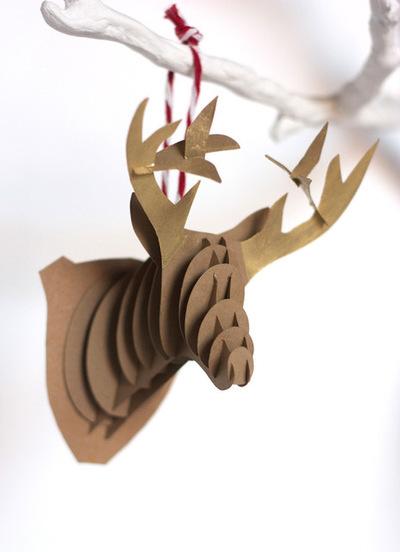 DIY Paper Reindeer Ornaments
