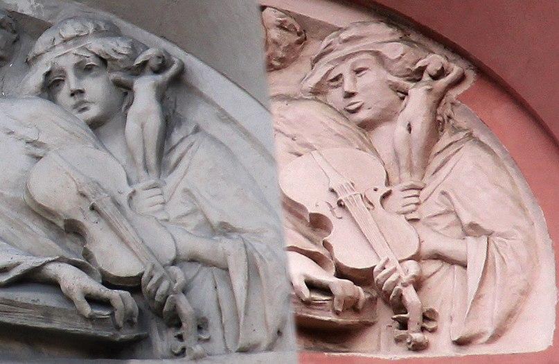 Не пора ли возвращать репрессии? В Питере изуродовали при реставрации барельеф на доме печального ангела.