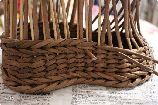 Мастер-класс Поделка изделие Плетение Как я делаю башмак Трубочки бумажные фото 9