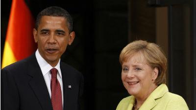 Барак Обама и Ангела Меркель…