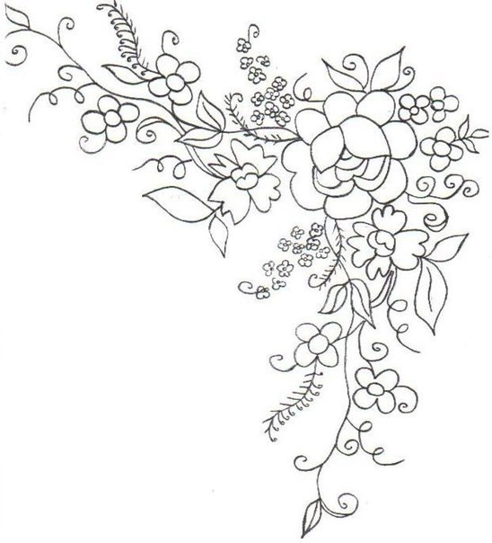 Трафареты: цветочные мотивы.