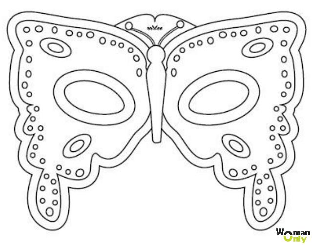 Новогодние маски из бумаги - праздник уже с вами маска бабочки