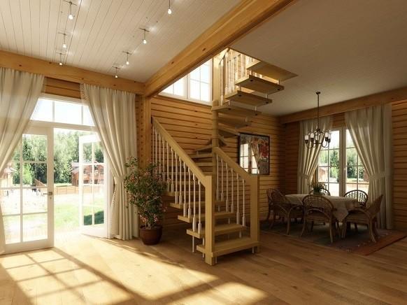 Дизайн дачного дома внутри эконом класса