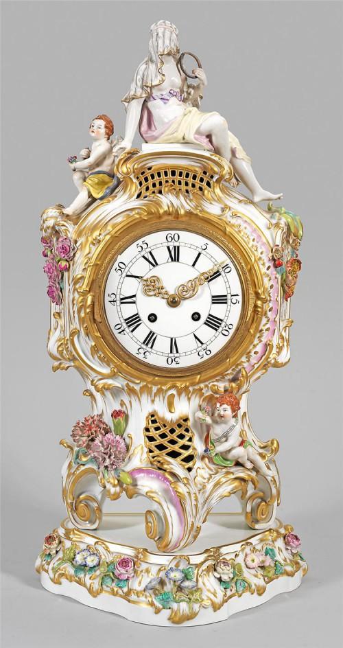 антикварный фарфор часы - 08