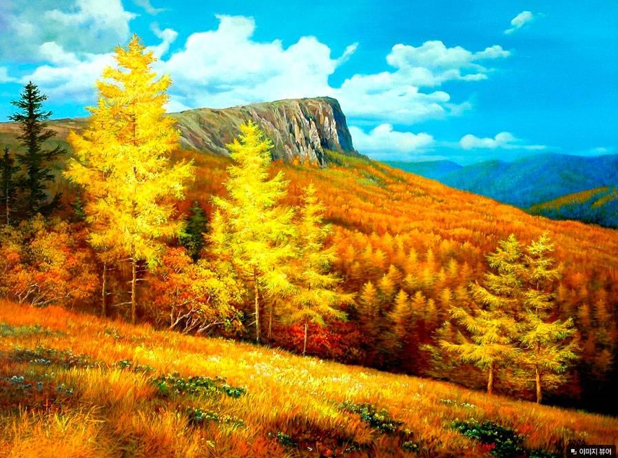 Корейская живопись, пейзажи