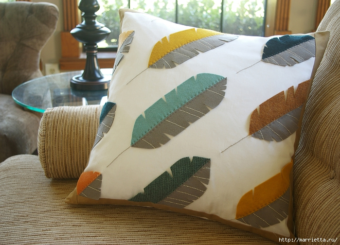Как сшить подушку перьевую своими руками 6