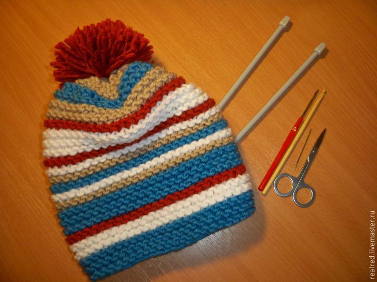 Вяжем спицами простую шапку