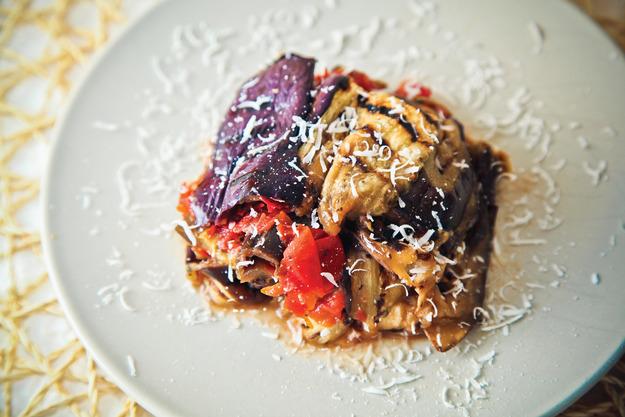 Лазанья из баклажанов с сыром