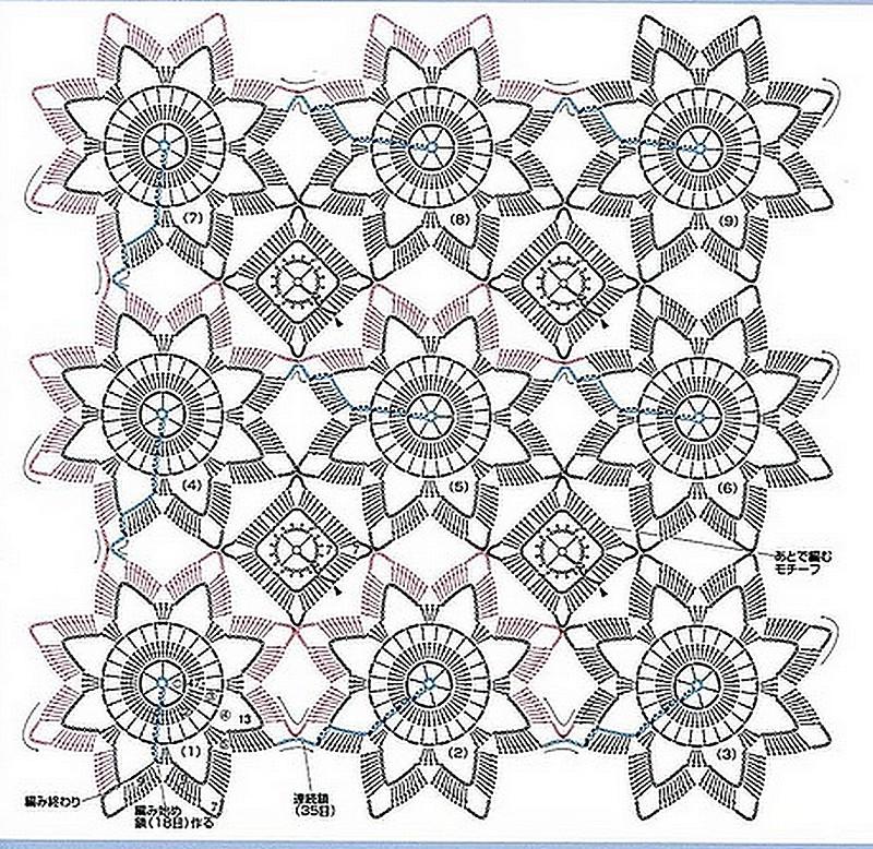 Безотрывное вязание узоров крючком 296