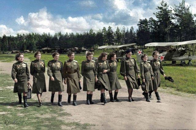 «Ожившие» фото времен Великой Отечественной войны (19 фото)