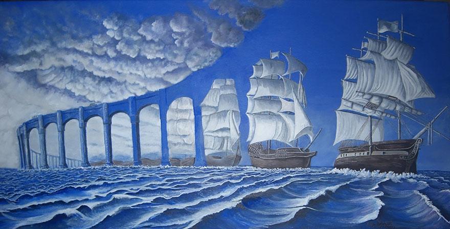 25 картин-иллюзий, которые вас очаруют