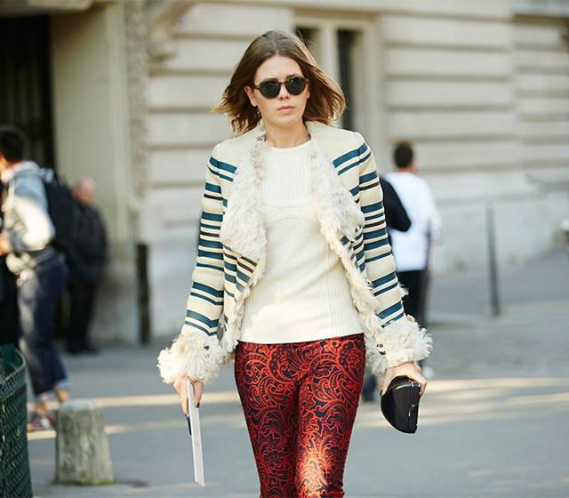 Неделя моды в Париже, весна-лето 2016: street style. Часть 1 (фото 26)