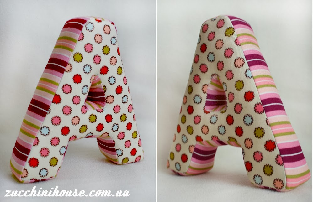 Как сделать мягкие буквы из ткани