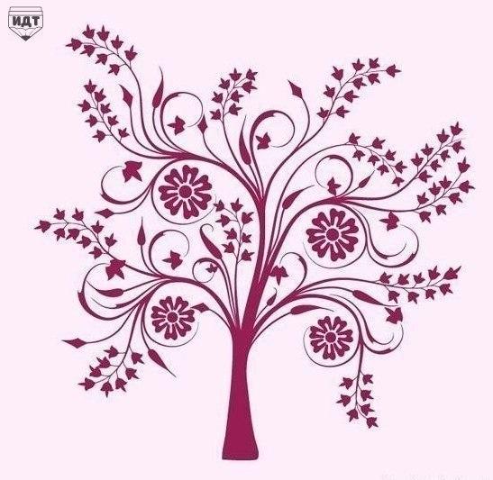 Шаблоны деревьев для творчества