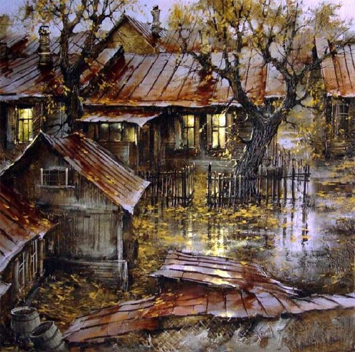 городской пейзаж художник Вячеслав Курсеев - 08