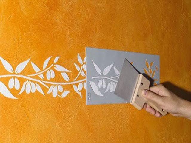 Трафареты своими руками декор стен