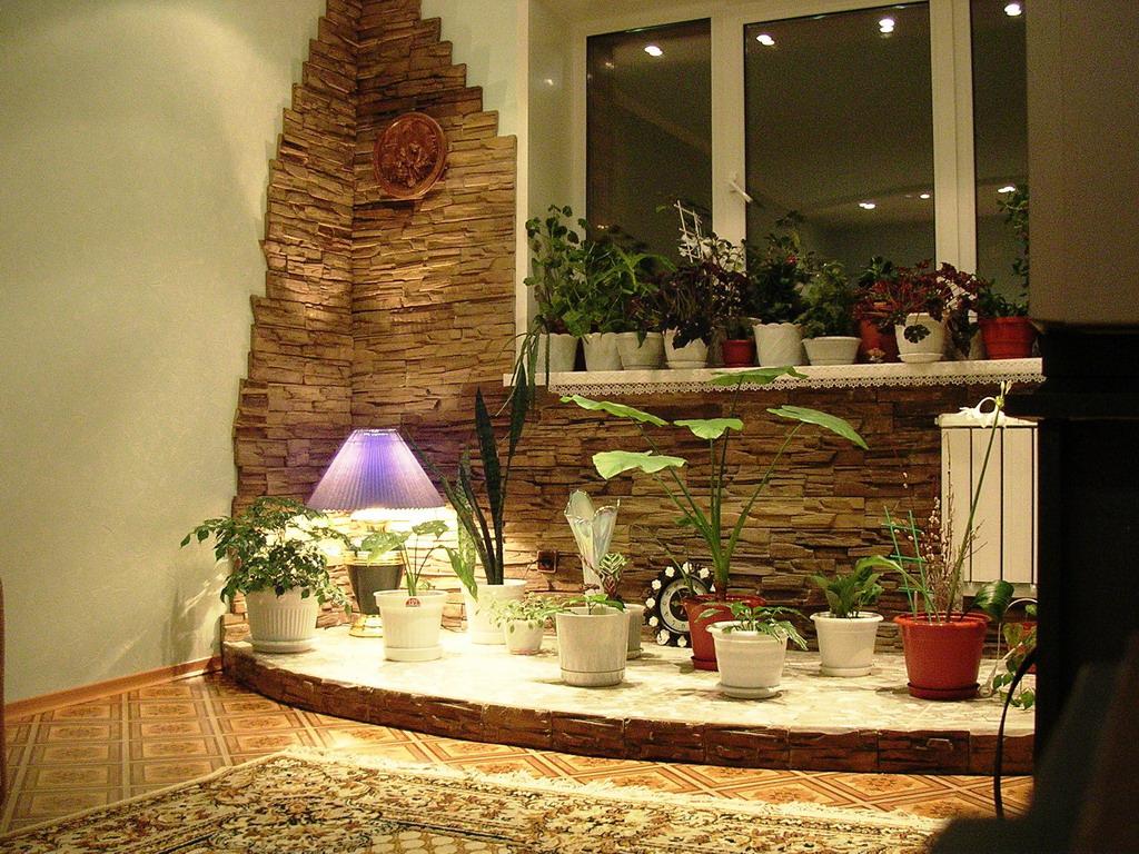 Декор кухни декоративным камнем
