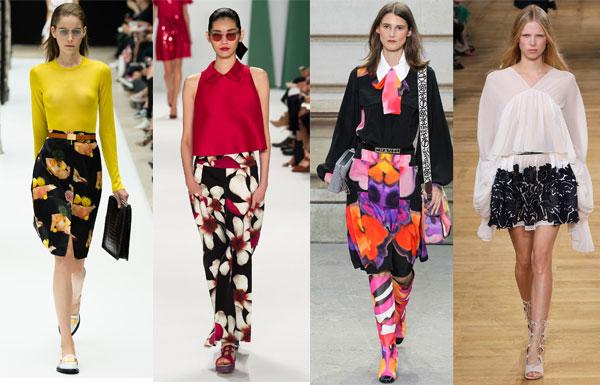 Модные юбки с цветами весна-лето 2015– самый женственный тренд