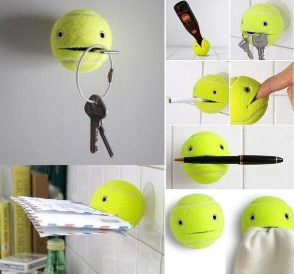 Как можно использовать старый теннисный мяч