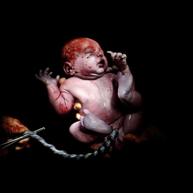 Чудо рождения: фотограф делает снимки младенцев через несколько секунд после их появления на свет