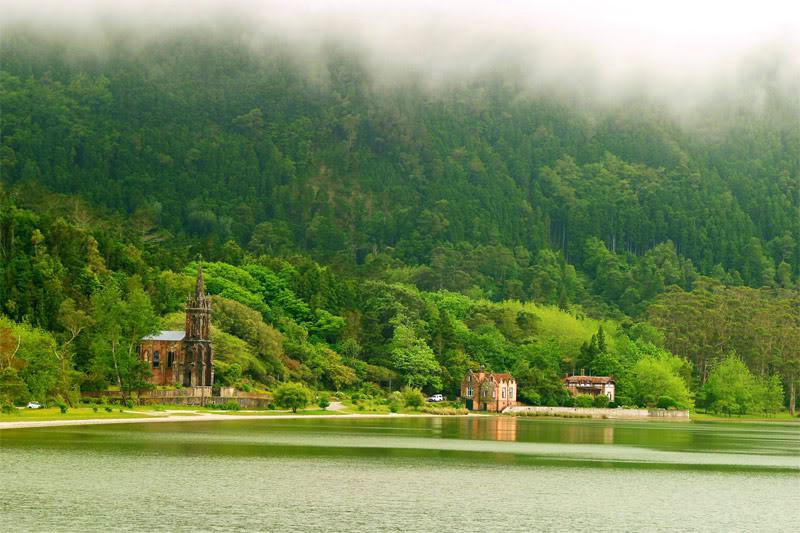 Lagoa das Furnas красота, озера, природа