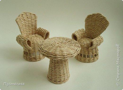 Кукольная жизнь Плетение Кресло Трубочки бумажные фото 13