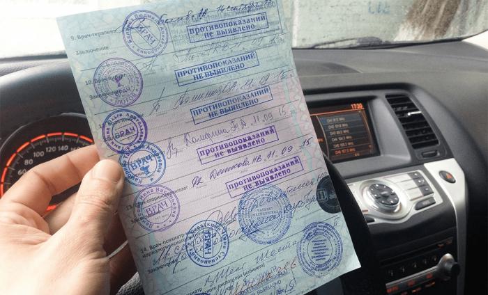 Как получается медицинская справка для получения водительских прав?
