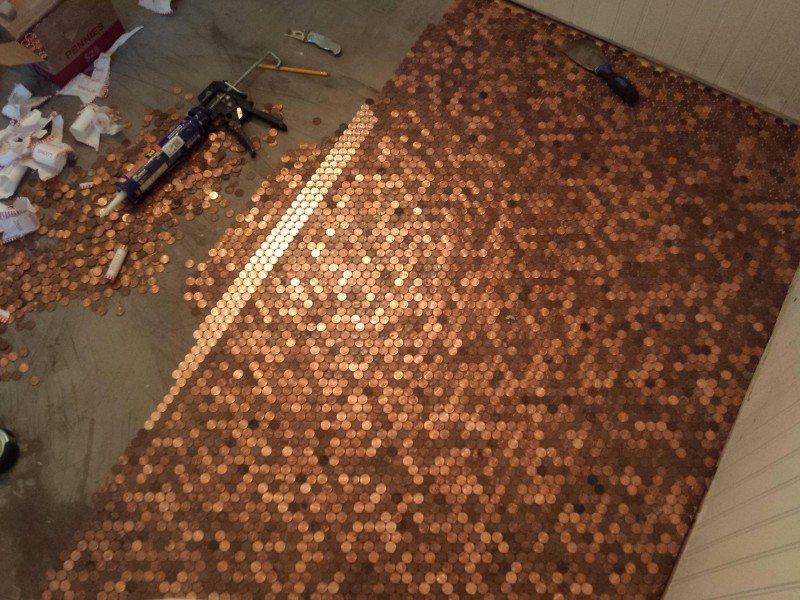 Как украсить пол монетки, пол