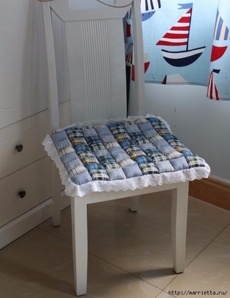 Сшить подушку для стула фото
