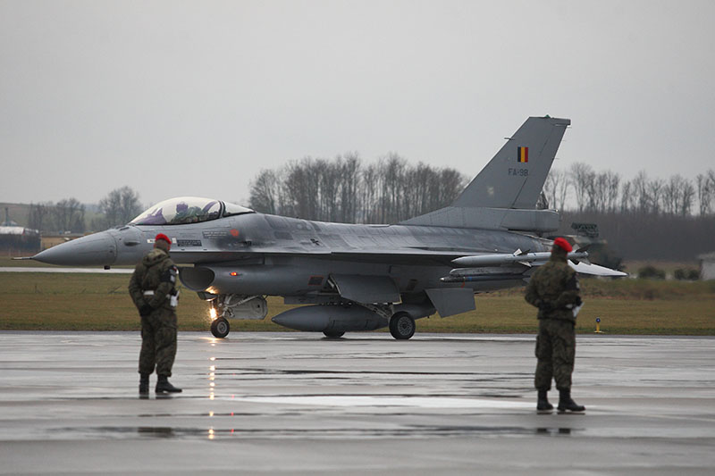 В Бельгии уничтожен F-16
