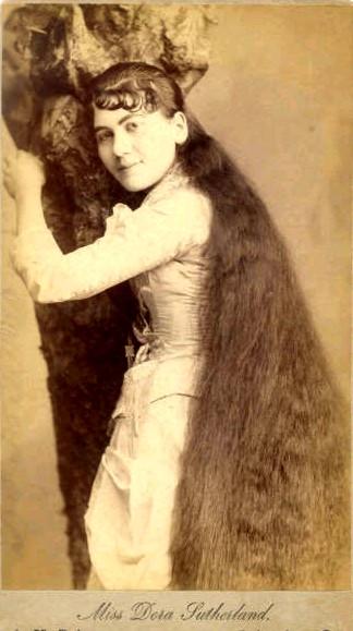Семь сестер Сазерленд. Cамые длинноволосые дамы эпохи модерна.