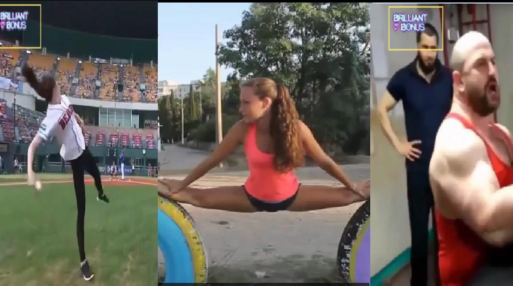 Спортивные приколы, курьезы Девушки и мужчины Футболисты и велосипедисты отжигают