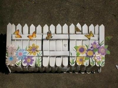 заборчики для цветника или оформления кашпо