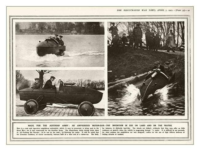 Автомобиль - амфибия для австрийской армии
