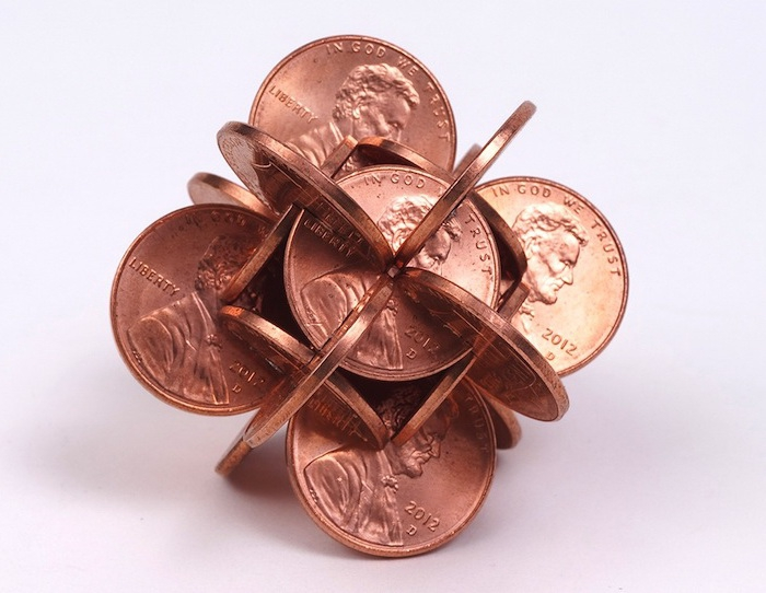 Скульптуры из монет Скульптур, монеты
