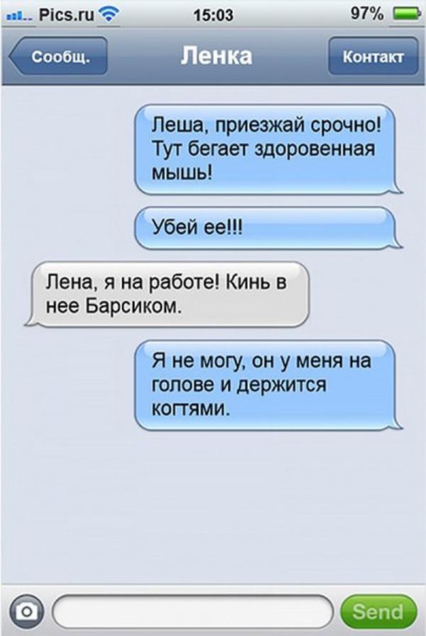 МИЛЫЕ БРАНЯТСЯ, ТОЛЬКО ТЕШАТСЯ...))) СМСки...)))