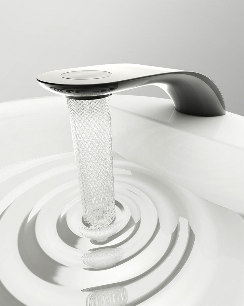 Студент придумал кран, который экономит воду красиво дизайн, оригинально