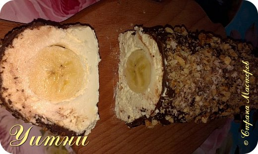 Кулинария Мастер-класс Рецепт кулинарный Банан под шубкой +МК Продукты пищевые фото 4