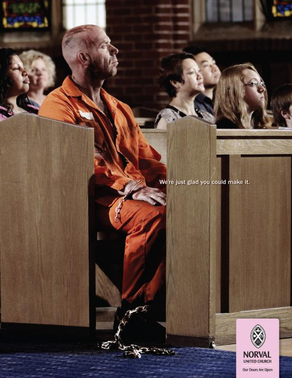 The United Church of Canada: Convict, The United Church Of Canada, Smith Roberts Creative Communications, Печатная реклама