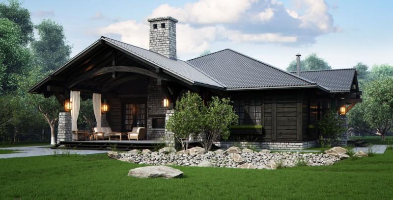 Это, безусловно, лучший проект одноэтажного деревянного дома, которые мы видели до этого времени!