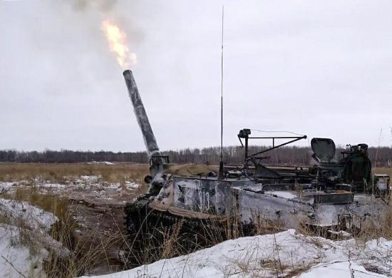 Вновь сформированный дивизион самоходных минометов «Тюльпан» впервые показал свои боевые возможности