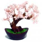 Дерево счастья из розового кварца
