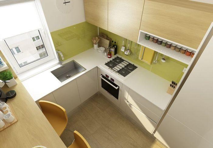 Как оформить кухню в 6 квадратных метров