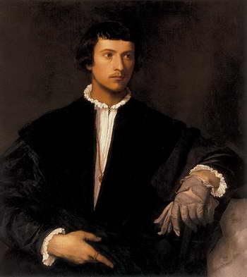 Тициан. Мужчина с перчаткой